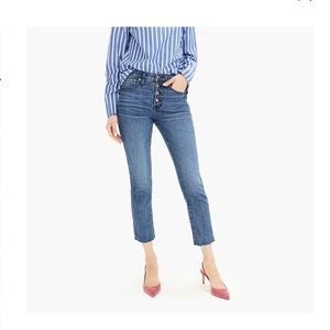 J Crew Vintage Straight Buttonfly Jeans